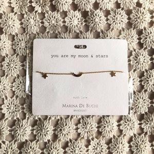 Marina De Buchi moon and stars charm bracelet